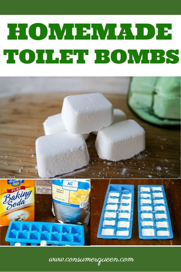 Homemade Toilet Bombs Pinterest collage