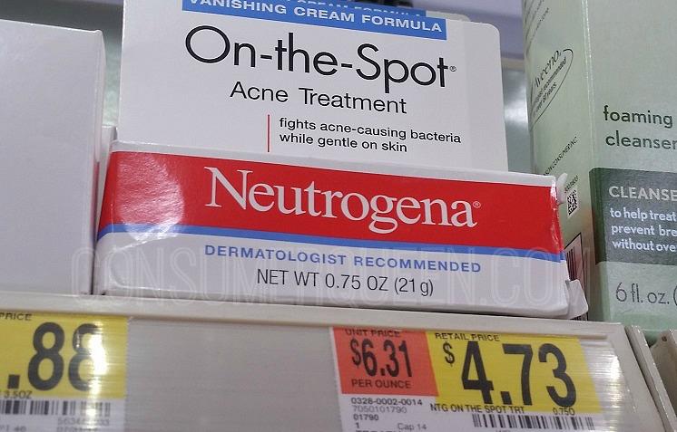 Neutrogena on the Spot Acne Treatment 73¢ at Walmart