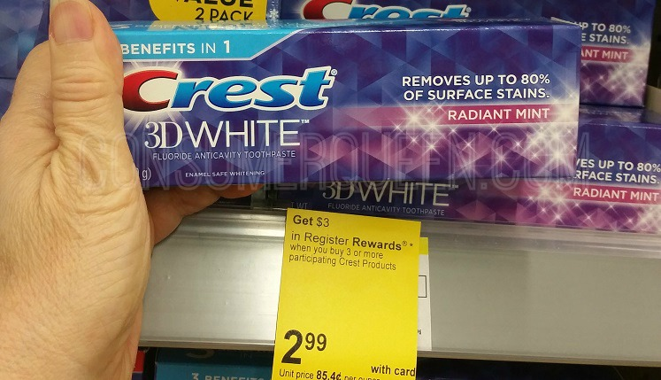 TWO Free Crest Toothpaste at Walgreens After Rewards!