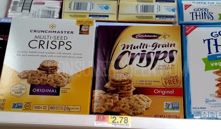 Crunchmaster Snack Crackers as Low as 78¢ at Walmart!