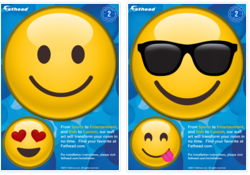 FREE FatHead Emoji Wall Decal Sample (5×7) – Hurry and Get Yours!