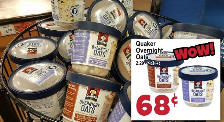 Quaker Overnight Oats Just 25¢ at Smart Saver Thru Monday!