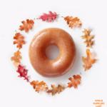 Pumpkin Spice Krispy Kremes on Fridays in October!