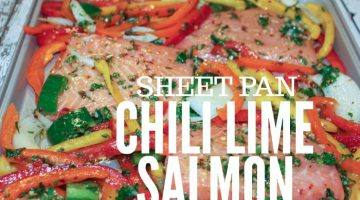 Chili Lime Salmon Sheet pan