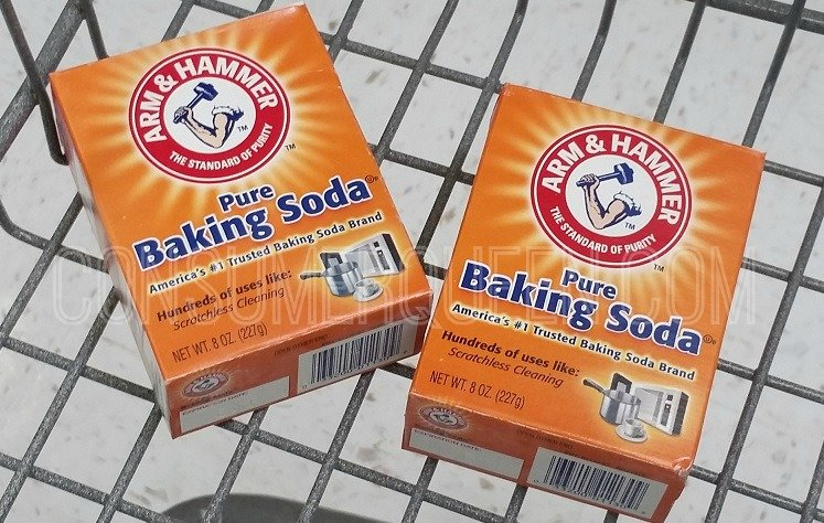Baking Soda in Cart - Clean with Baking Soda Post