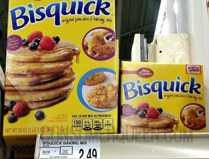 Bisquick Pancake & Baking Mix 20 oz. $1.49 at Homeland!