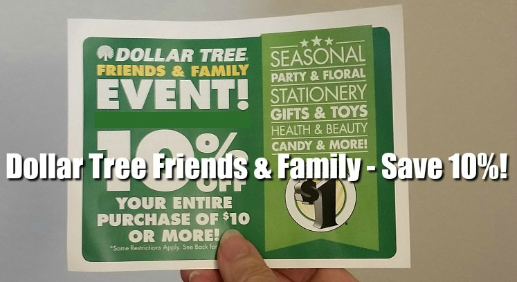 Dollar Tree 10% Discount Coming – What You Need to Know! *EXPIRED*