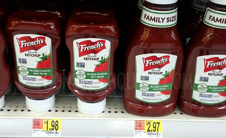 French's Ketchup 20-oz. Only 98¢ at Walmart – No Coupon Needed!