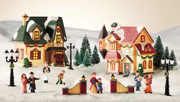 kohls st nicholas square village 20pc holiday decoration only 5949