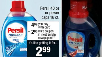 Persil ProClean Laundry Detergent $1.99 at CVS – Starts 10/22!