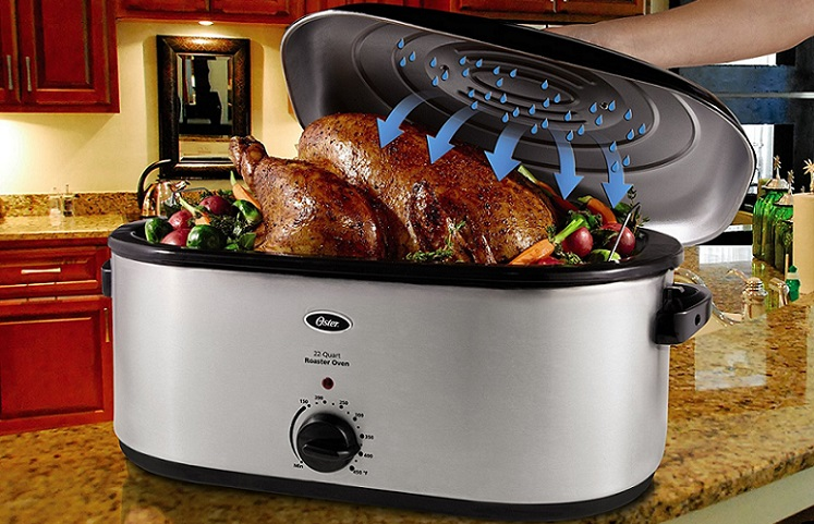 Oster 22-Quart Roaster Oven w/ Self-Basting Lid $38 From Amazon!