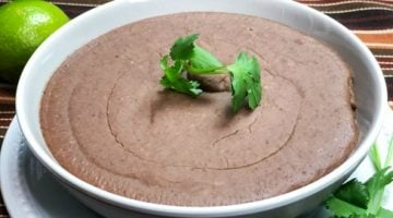 No Lard Instant Pot Refried Beans