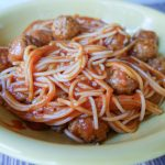 Instant Pot Spaghetti and Meatballs plated (1 of 1)