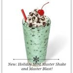 Sonic Drive-In : Try the New Holiday Mint Master Shake and Master Blast