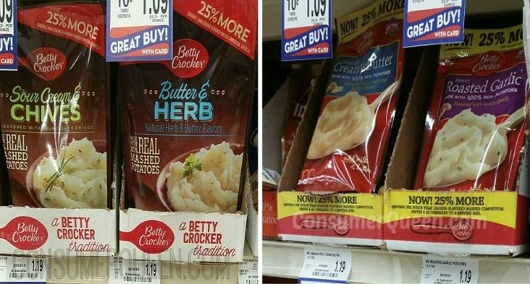 Betty Crocker Potato Pouches 69¢ at Homeland & Country Mart!