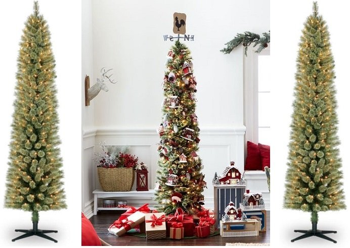 pre lit pencil christmas tree only 4999 free shipping - Pencil Christmas Tree Decorating Ideas