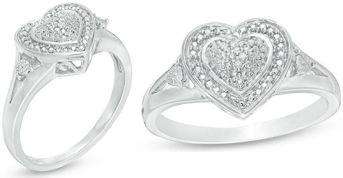 Zales: Diamond Accent Heart Ring in Sterling Silver Only $33.94 Shipped!