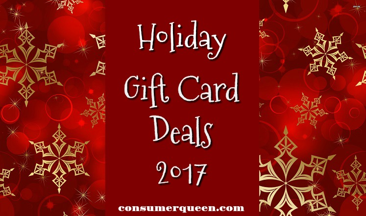 Restaurant & More Holiday Gift Card Deals 2017