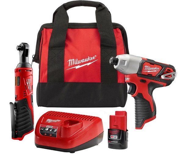 home depot: milwaukee impact driver and ratchet set $99 - today only ...