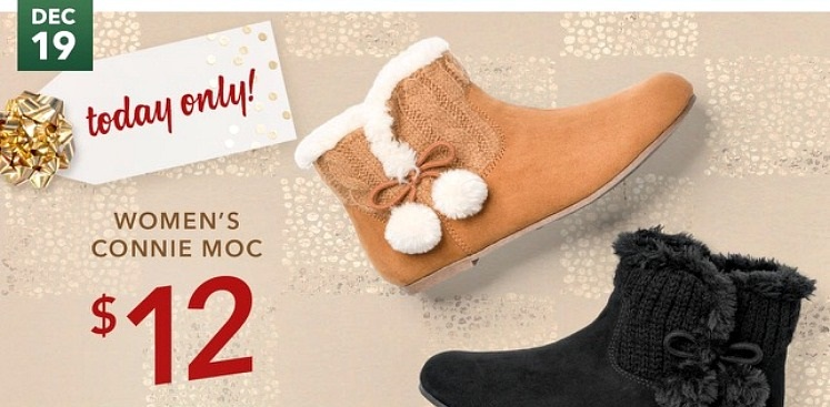 Women's Connie Moc Moccasins $12 Today Only at Payless!