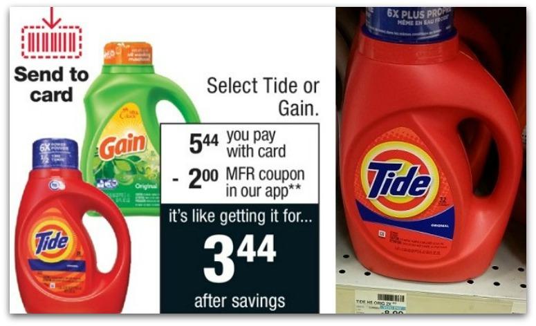 Tide and Gain Liquid Detergent Just $1.94 at CVS
