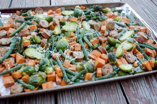 Roasted sausage and Veggies