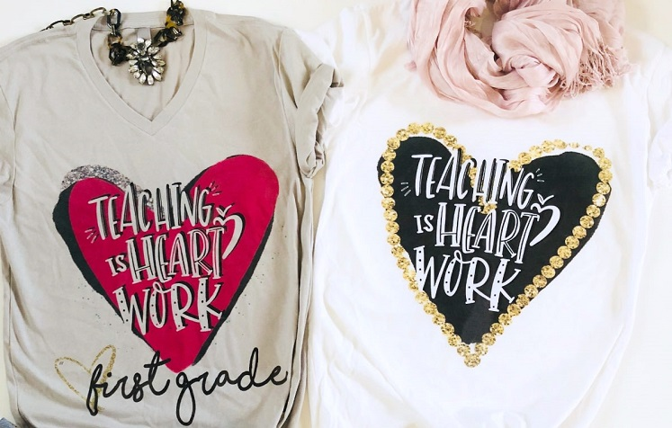 Personalized Teaching is Heart Work Tees Just $17.97 Shipped!