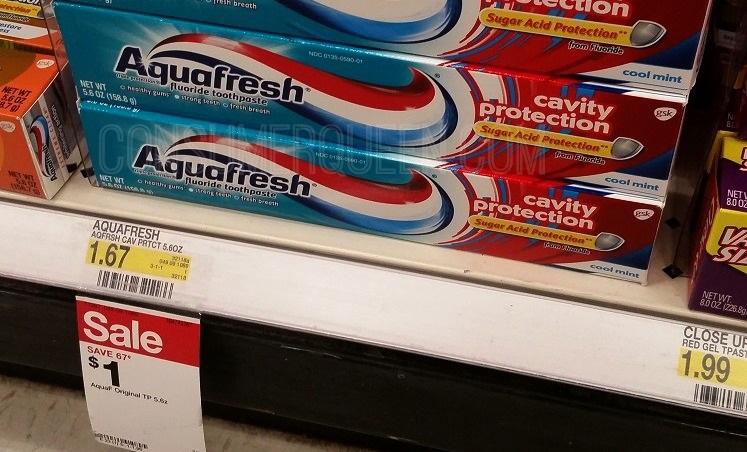 Aquafresh Toothpaste Only 50¢ at Target This Week!