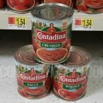 LARGE Can of Contadina Tomatoes 54¢ at Walmart After Cash Back