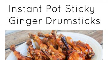 Instant Pot Sticky Ginger Drumsticks