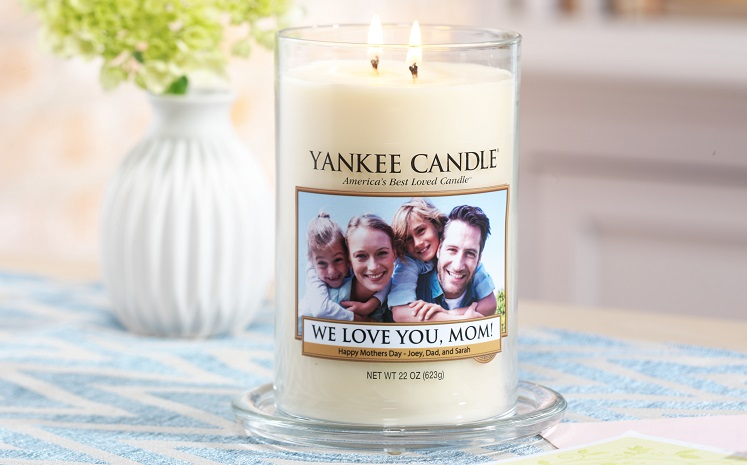 free personalized candle label from yankee candle