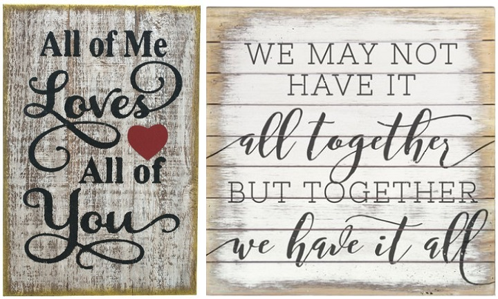 Romantic Wall Signs Up to 55% off at Zulily