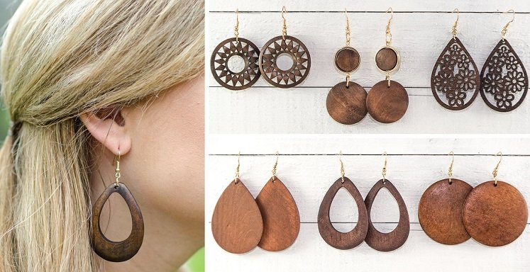 Wooden Earrings Only $6.98 Shipped From Jane.com