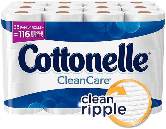 36 Cottonelle Family Rolls (116 reg. rolls) Only $17.99 On Amazon!
