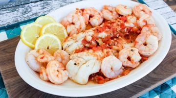 Alaska Cod with Alaska Spot Prawns – A Great Weeknight Seafood Recipe