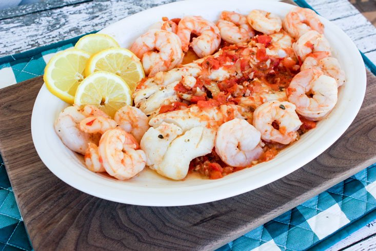Alaska Cod With Shrimp And Tomatoes (1 of 1)