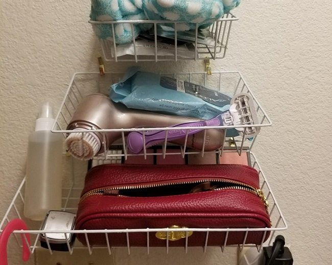 Dollar Tree DIY – Wire Basket Storage For The Bath