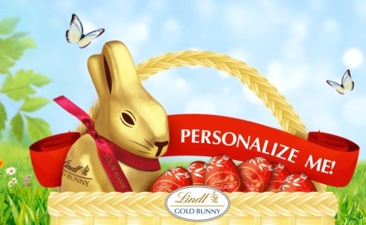 FREE Personalized Easter Ribbon From Lindt Chocolate