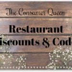 Restaurant Discounts and Codes 12/7