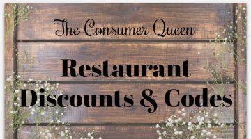 Restaurant Discounts & Codes- 2/23