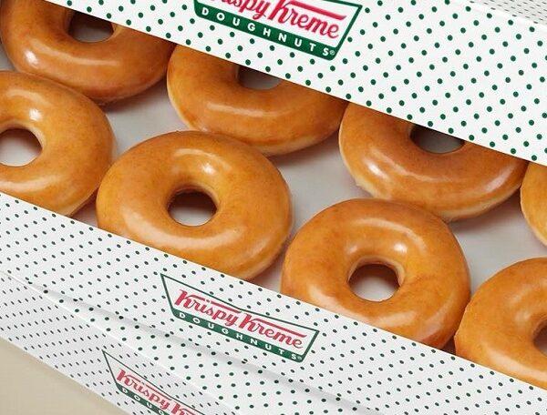 Krispy Kreme glazed Doughnut for free