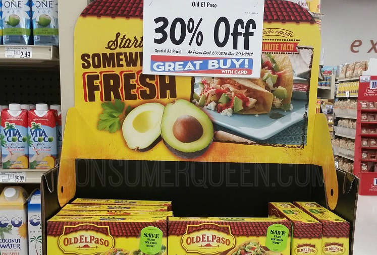 In-Store Coupon Alert + Old El Paso Sale at Homeland
