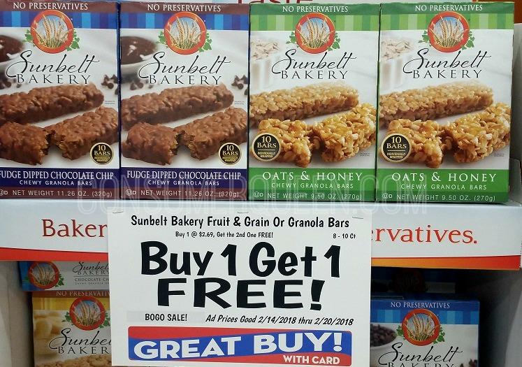 Sunbelt Bakery Granola Bars as Low as 79¢ at Homeland