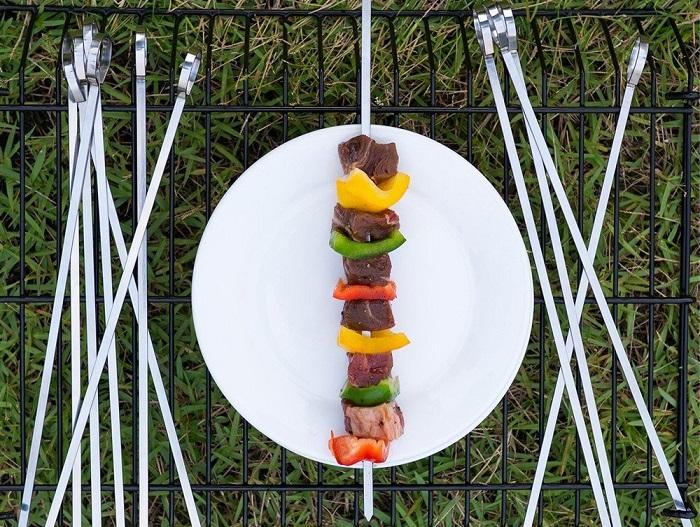 Amazon: X-Chef Set Of 12 BBQ Flat Skewers $4.99 W/Promo Code