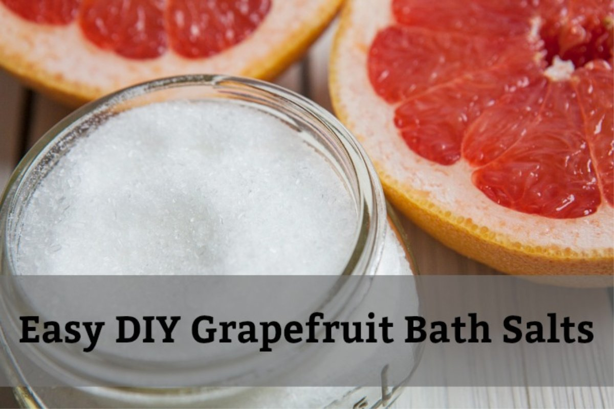 grapefruit bath salts DIY
