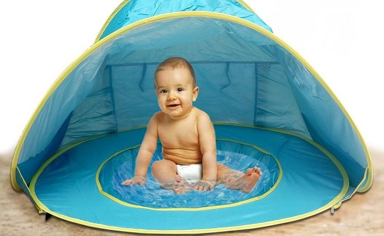 Amazon Lebe Baby Beach Tent W Popup Pool 16 49 W Promo Code