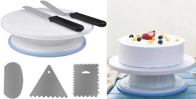 Amazon: Ejoyous Cake Decorating Turntable & Kit Only $9.99