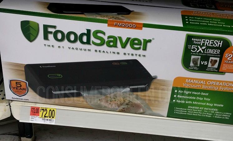 FoodSaver at Walmart (as Low as $57) + Deals on Heat Sealing Bags!