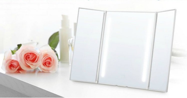 Amazon: Jerrybox Trifold Lighted Makeup Mirror $13.29 W/Promo Code