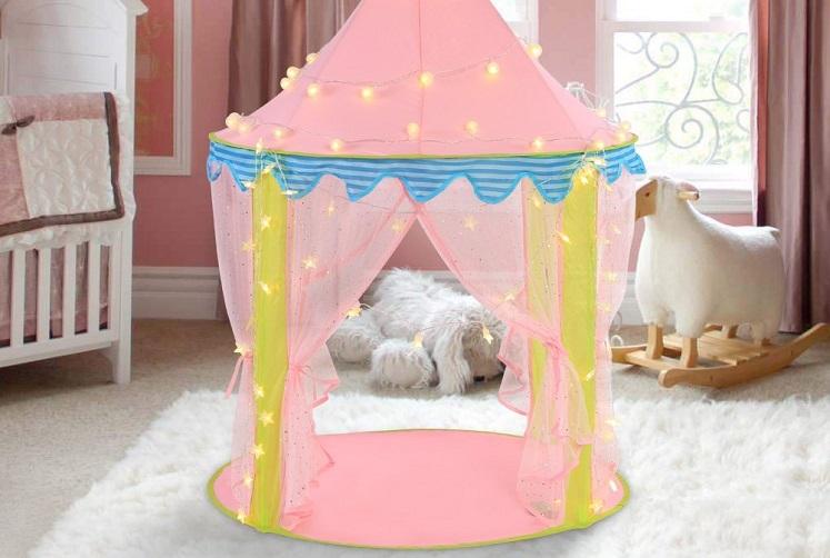 Amazon: Ejoyous Kids Play Tent Castle $29.99 W/Promo Code